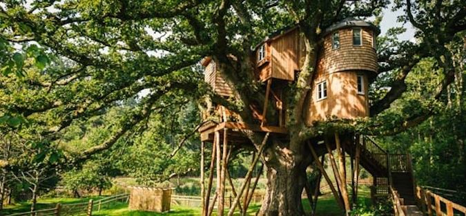 Bower House Construction treehouse for the Fox & Hounds Hotel