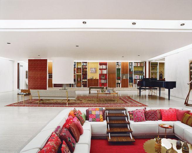 Miller House Columbus modern interior living room