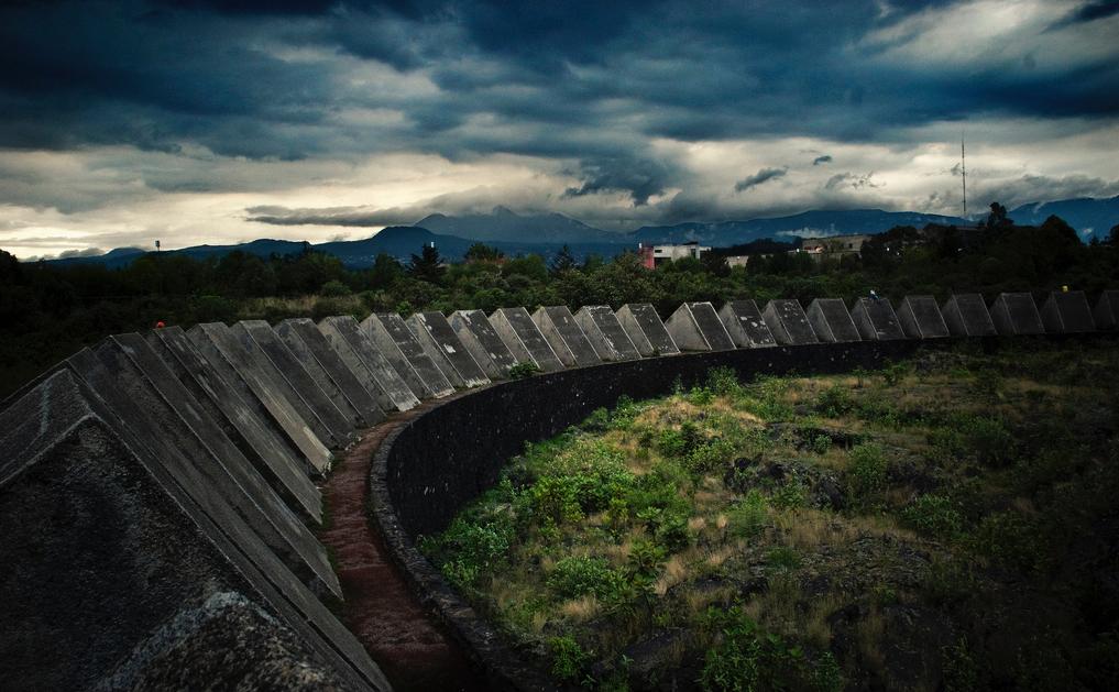 Espacio Escultórico lava formation in Mexico City