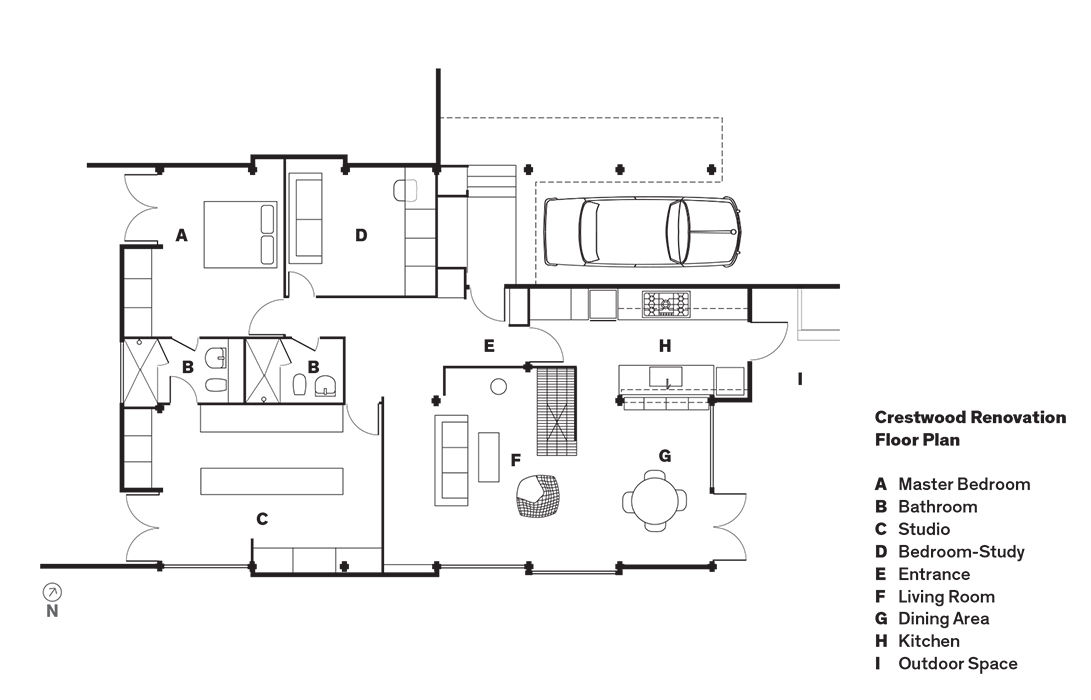 Crestwood Renovation floor plan.