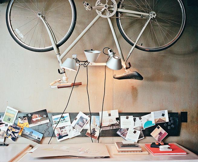 Crestwood Renovation studio with Artemide lights.