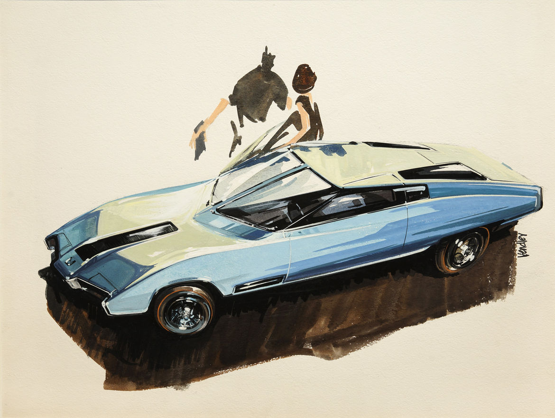 Christopher Mount automotive design drawings
