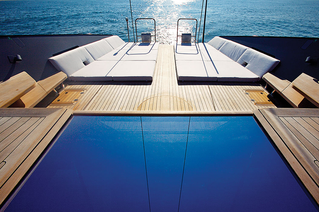 Wally Esense yacht designed by Odile Decq in Italy