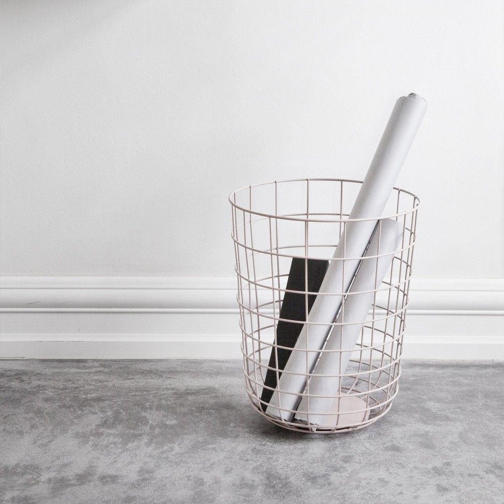 Simple and elegant wastepaper basket or storage vessel