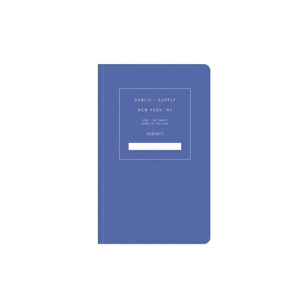 Bold blue notebook with dotted pages