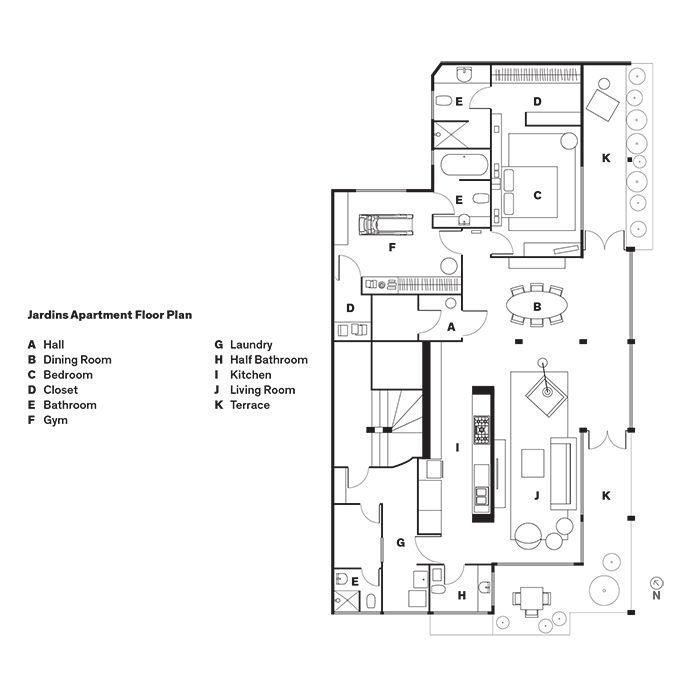 Jardins Apartment Floor Plan