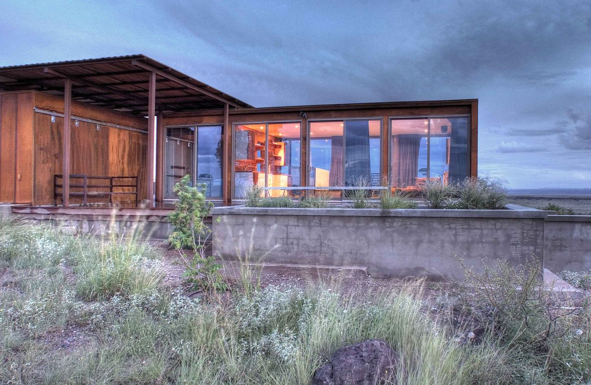 View of Marfa weeHouse Planters and Deck