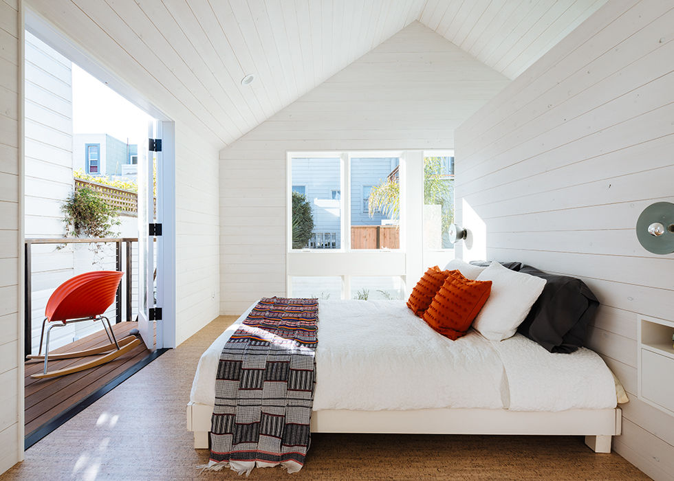 San Francisco bedroom loft with gable roof