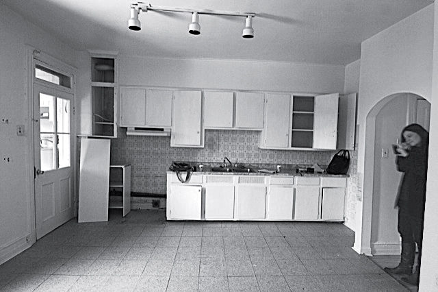 Montreal apartment kitchen before renovation