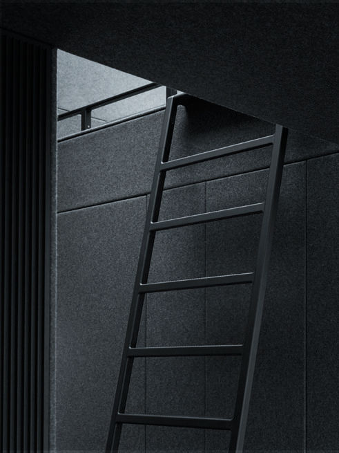 Vipp prefab Shelter ladder to sleeping loft