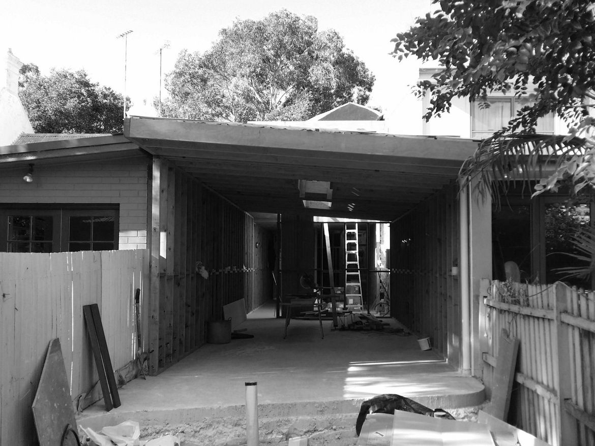 Terrace house in Sydney before renovation