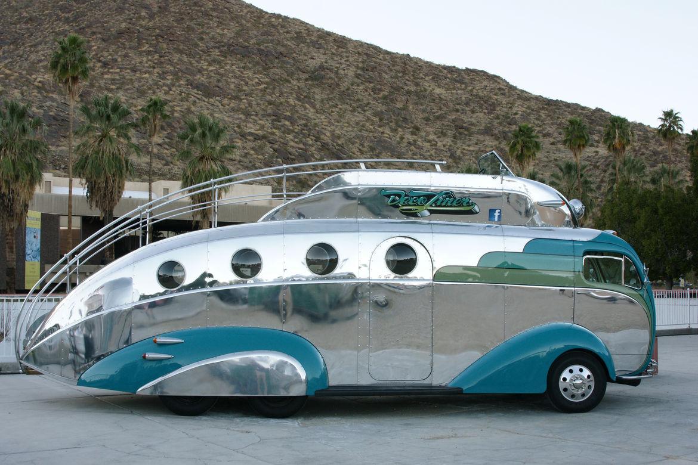 Palm Springs vintage travel trailer