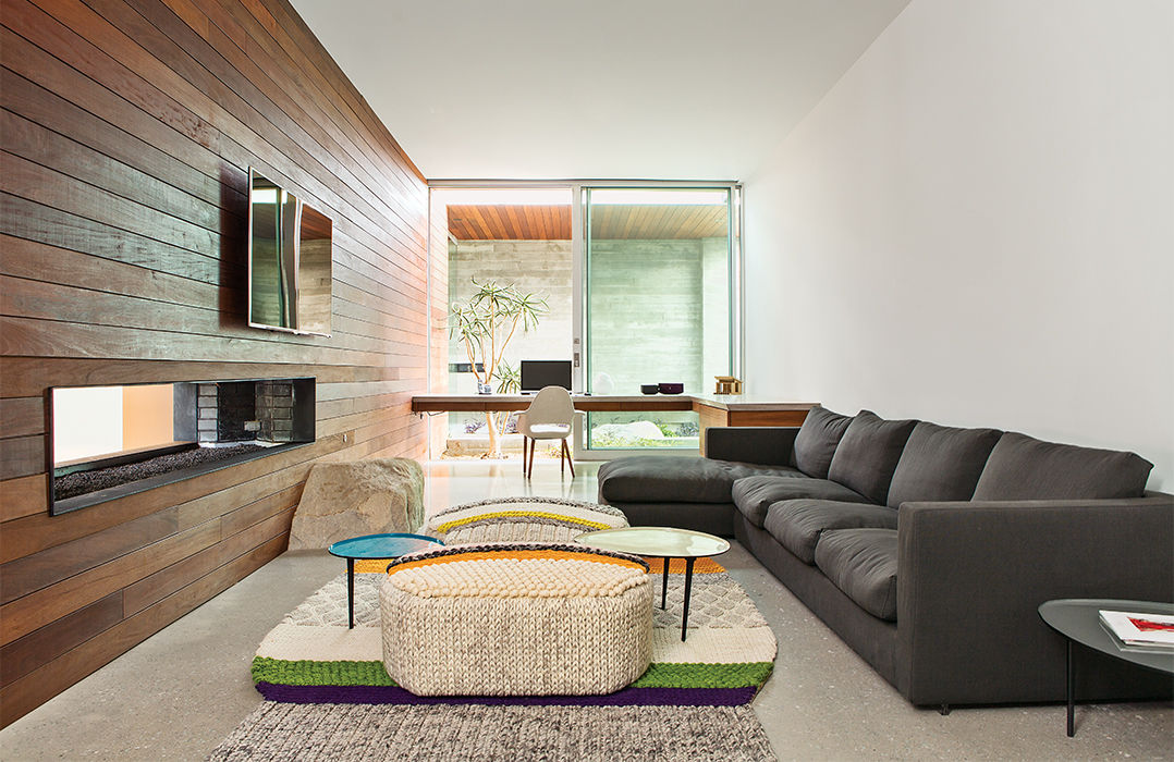 Flexform Sofa in Indian Summer home lounge in Southern California