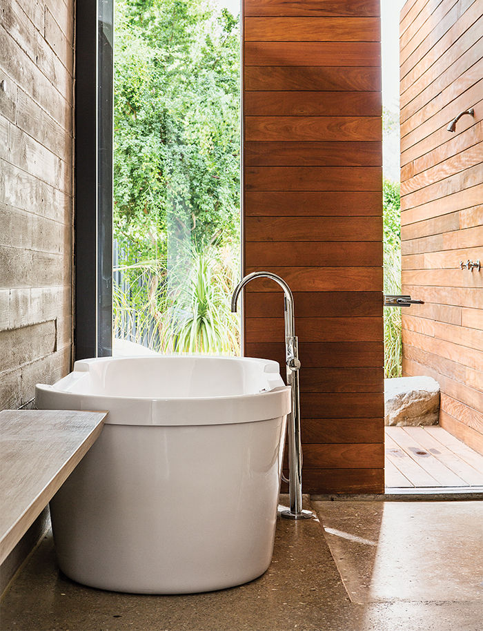 Master bath in Indian Wells  with a tub by Philippe Starck for Duravit