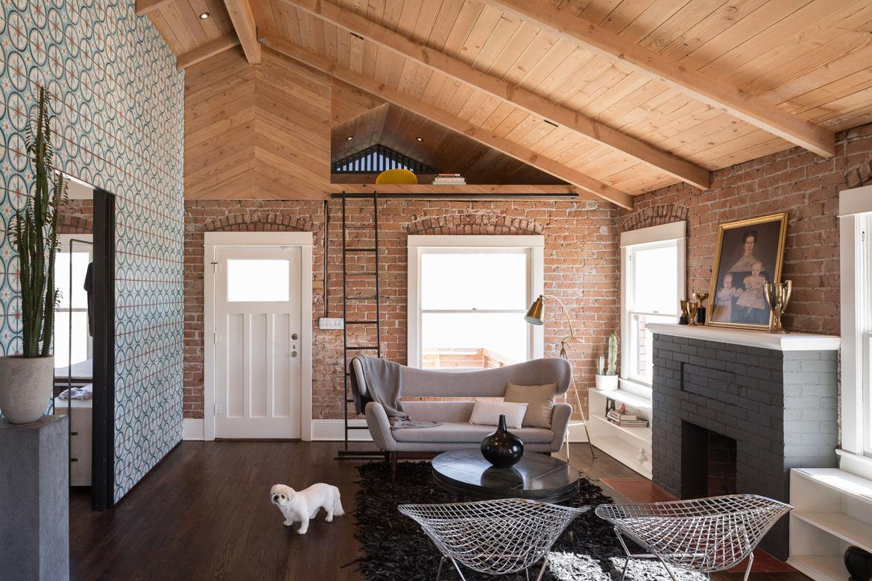 Living Room in Industrial Bungalow in Phoenix