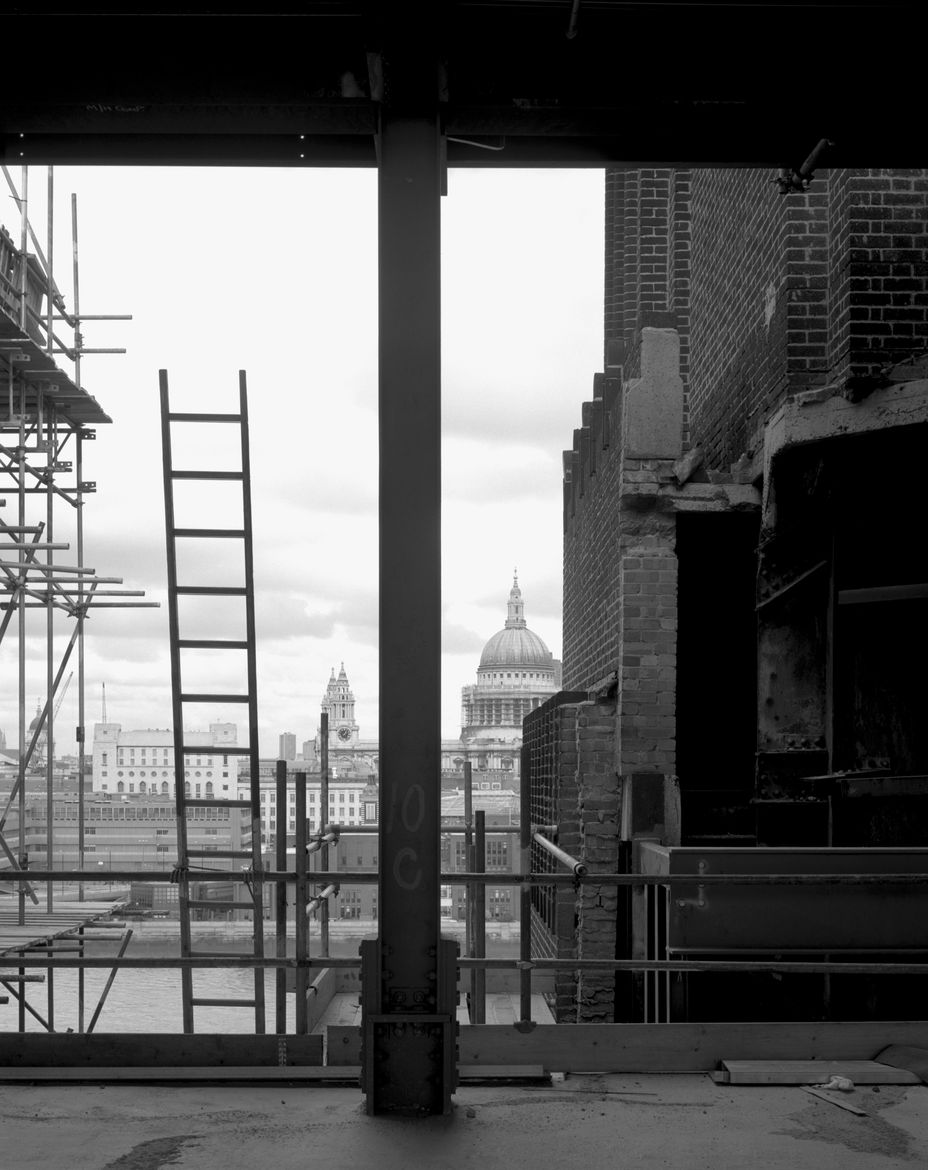 Helene Binet architectural photography Tate Modern construction