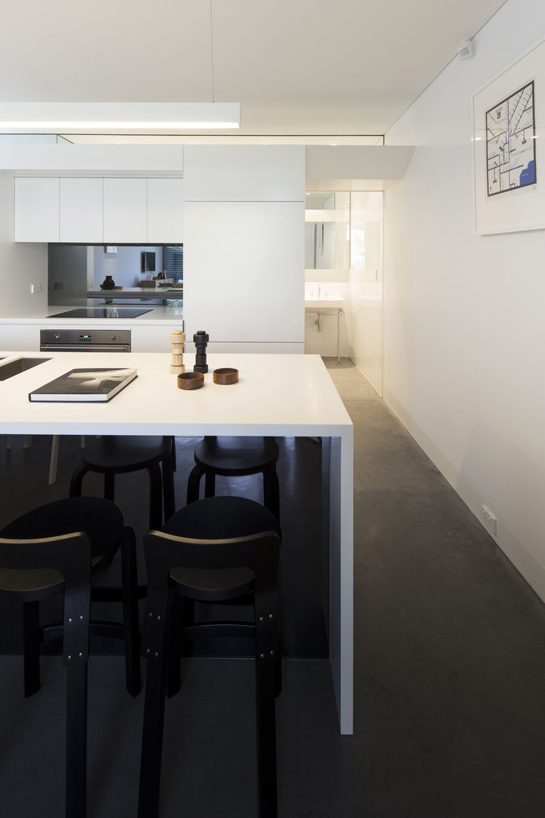 Annandale Home addition Corian countertop in kitchen