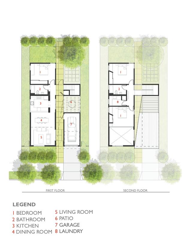 Lehrer Architects Affordable Housing Prototype Floor Plan 1
