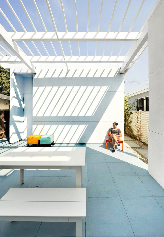 Lehrer Architects Affordable Housing Prototype Patio