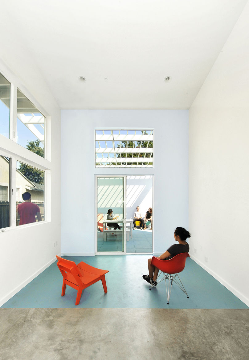 Lehrer Architects Affordable Housing Prototype interior