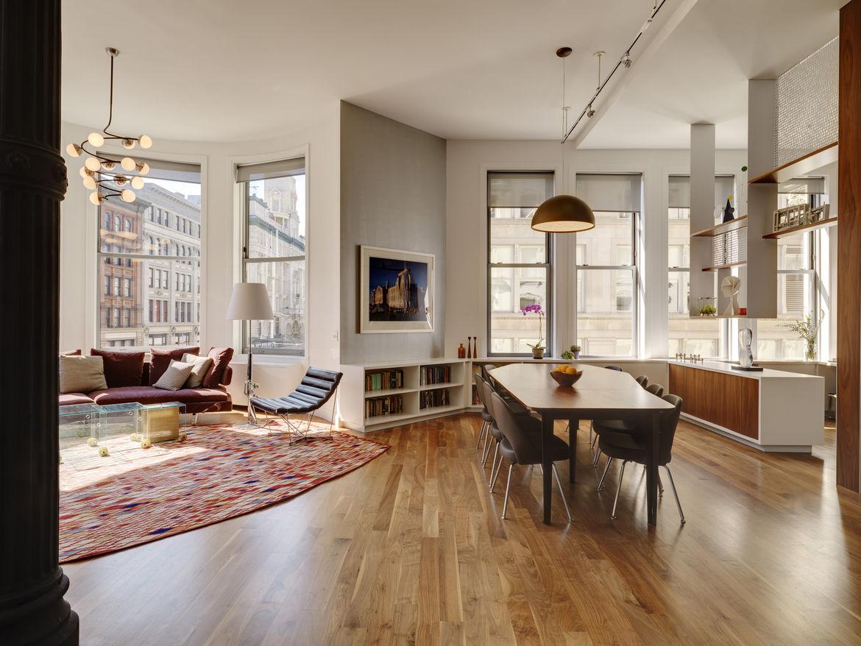 Bienstock/Sayer Family Apartment Open Floor Plan