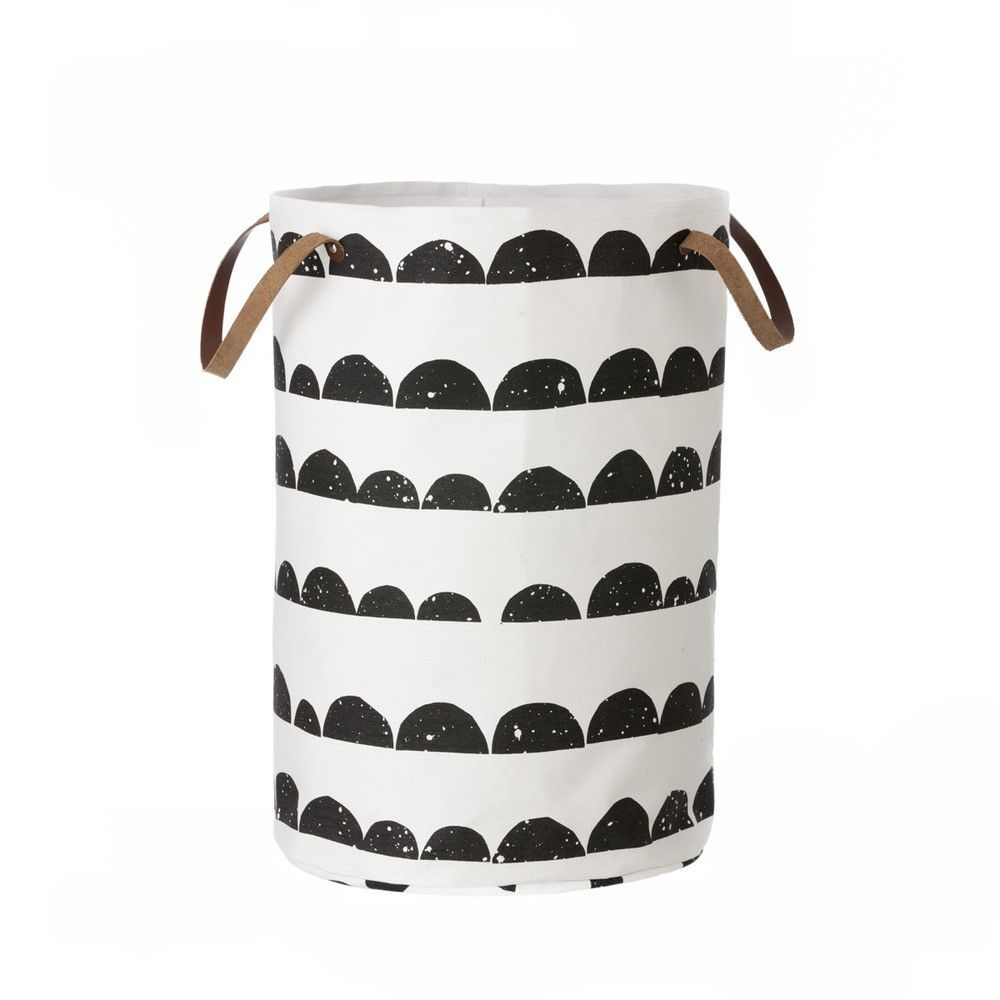 Playfully printed laundry and storage basket
