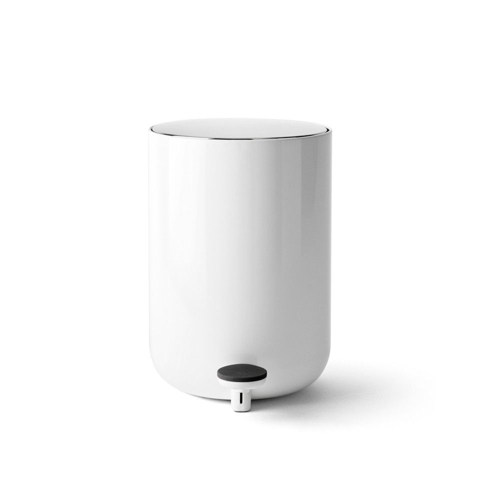 Streamlined and functional waste bin for bathrooms