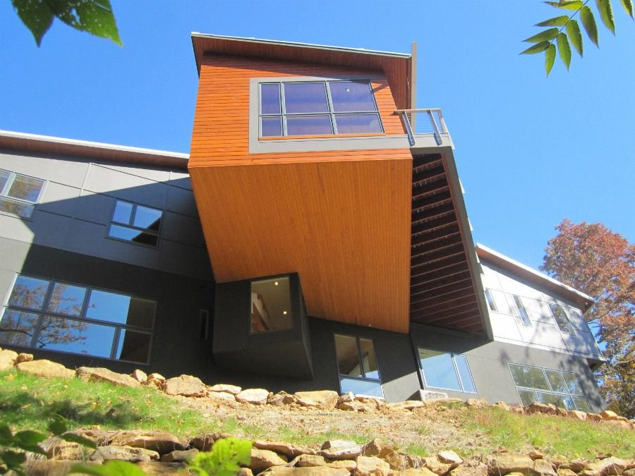 Aleph Residence Cantilever Deck, Asheville, NC