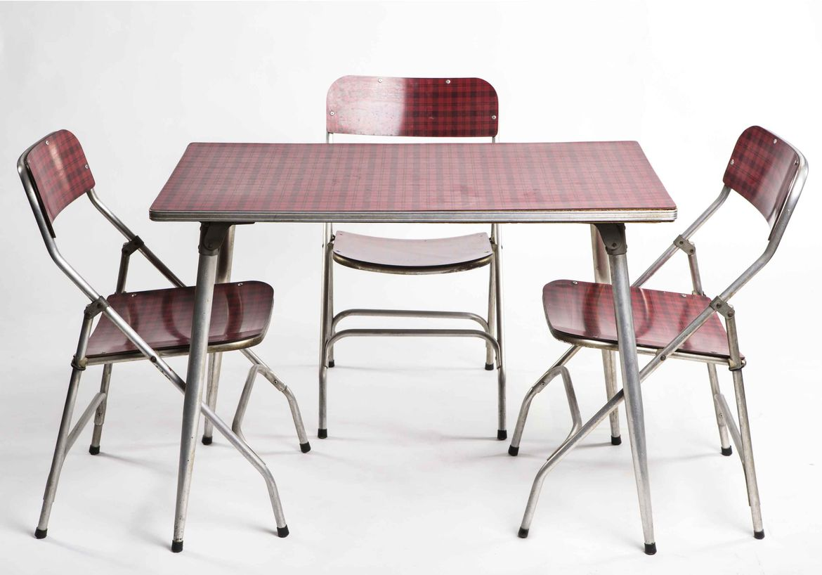 Formica dining set that was manufactured in the 1960s in Israel