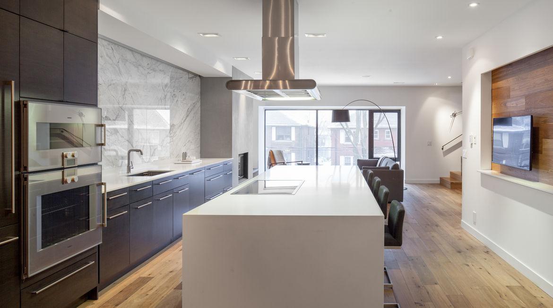Midtown Triplex Renovation kitchen, Toronto