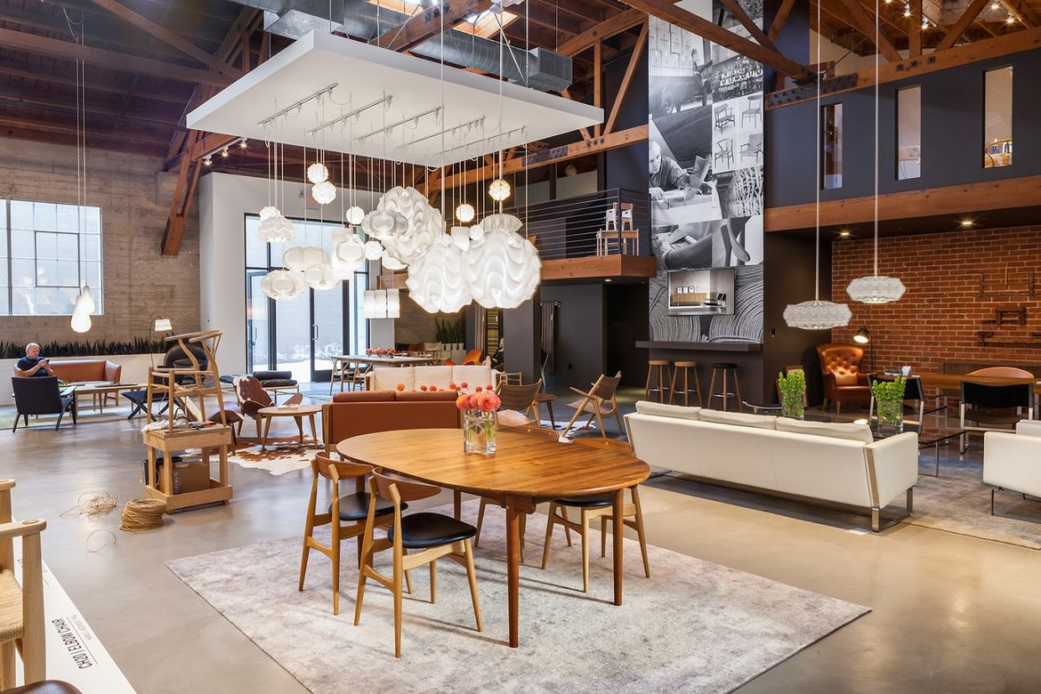 Carl Hansen & Son Showroom Los Angeles Helms Bakery Design District Culver City