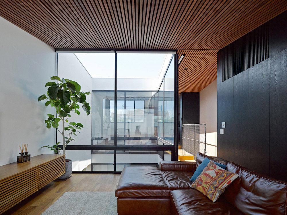 Wave House Living Room, Fujisawa, Japan