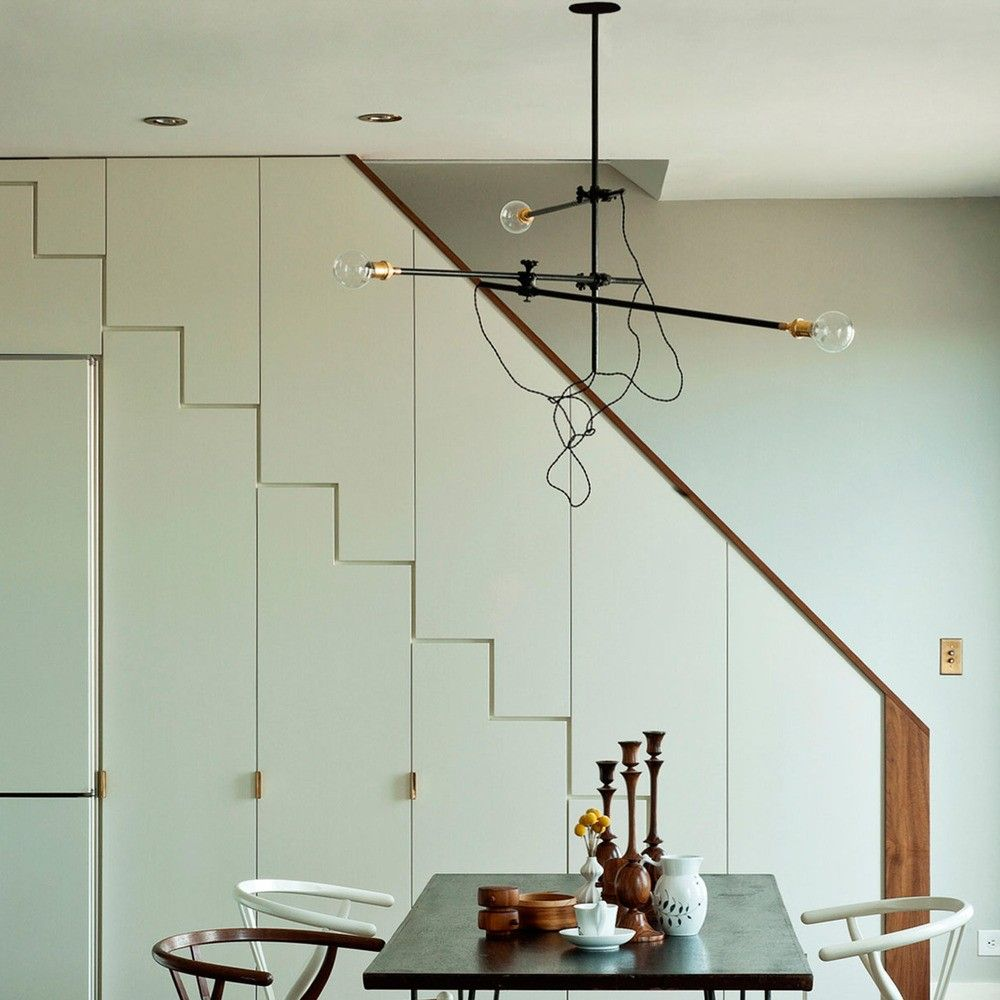 Industrial chandelier with adjustable arms