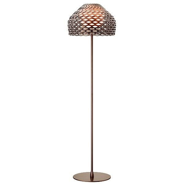 Bronze floor lamp with innovative perforated diffuser