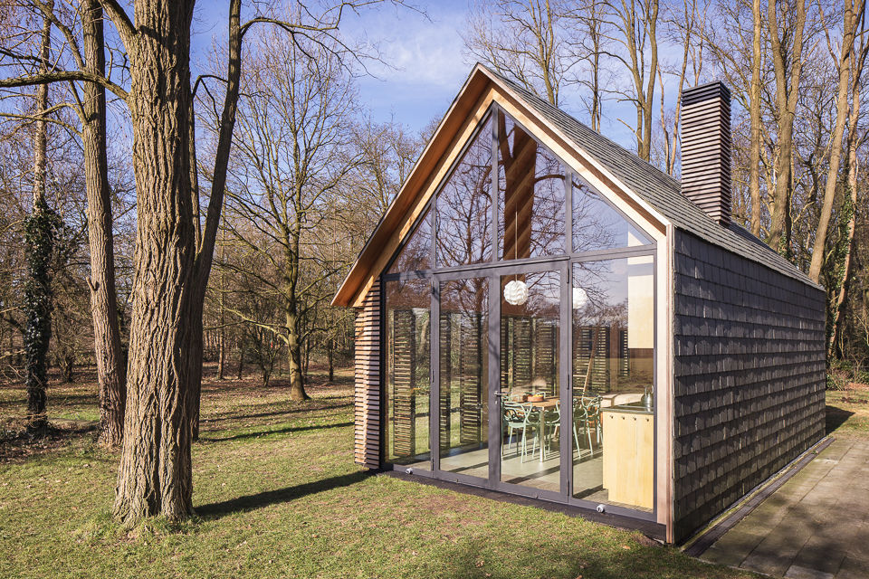 Handmade Cabin Glass Wall, The Netherlands