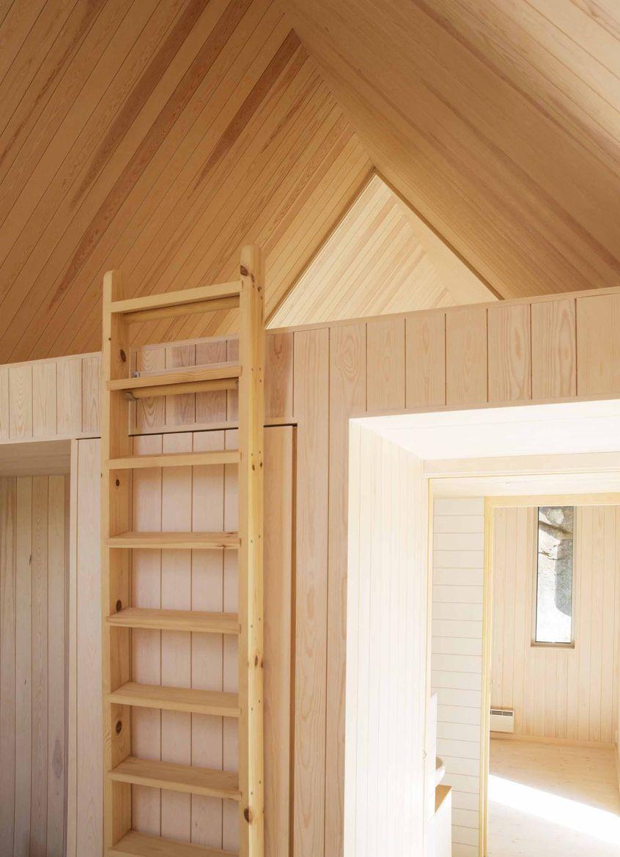 Micro Cluster Cabin in Norway sleeping loft.