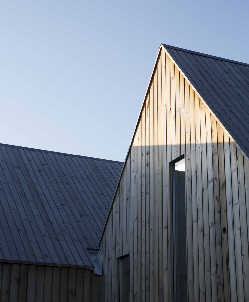 Micro Cluster Cabin in Norway gabled roof.