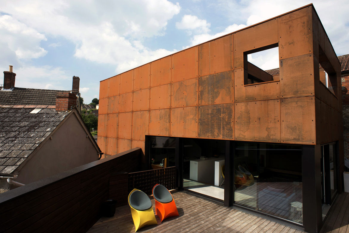 Ferrum House Steel Cladding Facade and Deck