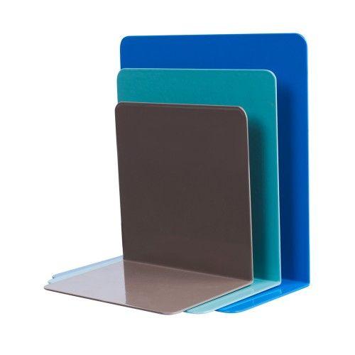 Multi-colored steel bookends