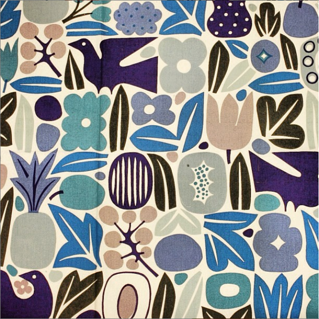 'Eden' archival blue colorway by Alexander Girard