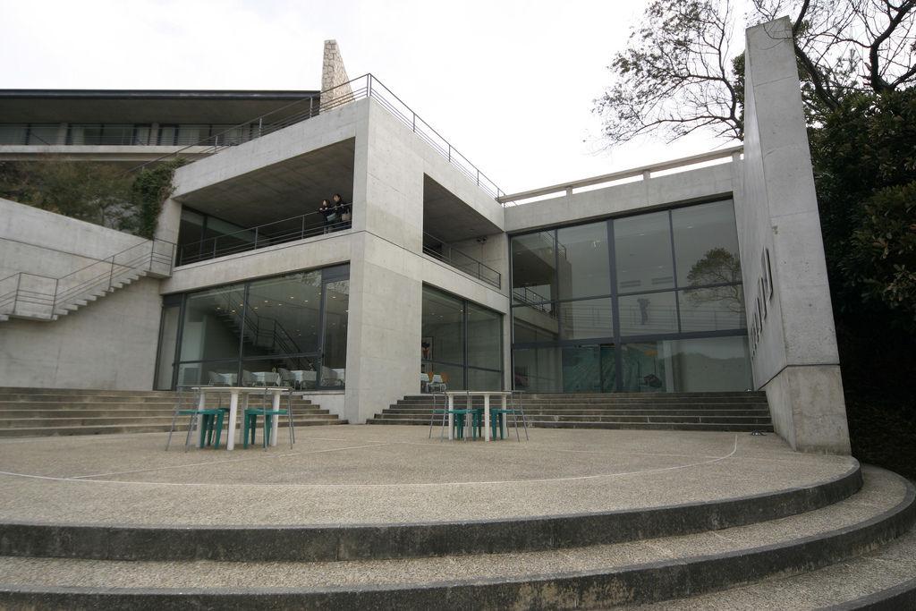 Exterior of Tadao Ando's Benesse House Museum in Naoshima.