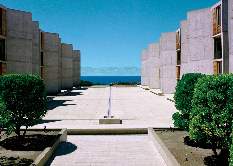 Louis Kahn's Salk Institute, an inspiration for Juhani Pallasmaa.