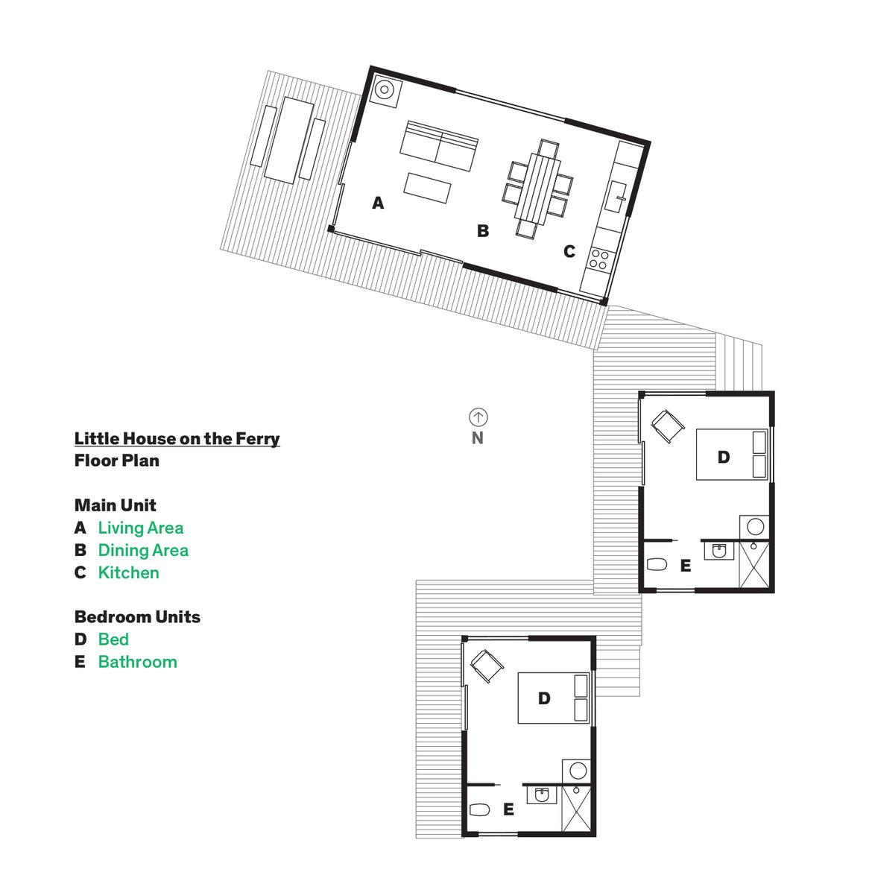 Vinalhaven cabins floor plan.