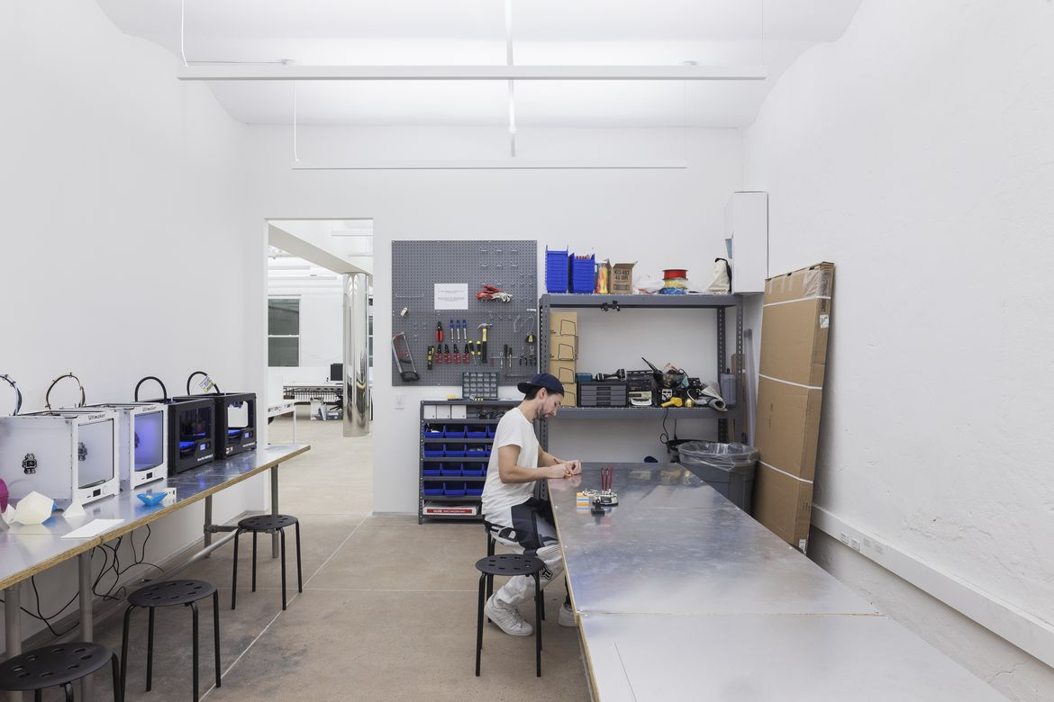 Inside the workspace at NEW INC. the New Museum's incubator in New York.