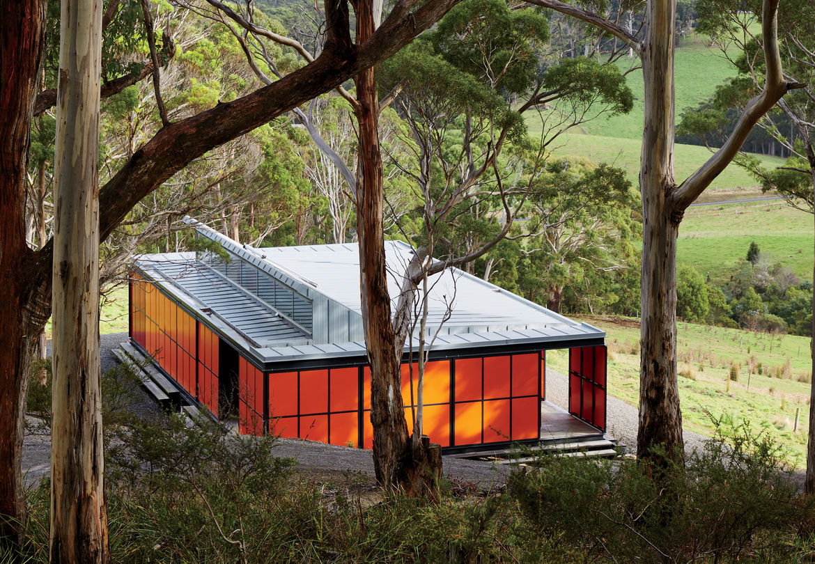 Off-the-grid prefab in pristine Tasmanian landscape by Misho+Associates.