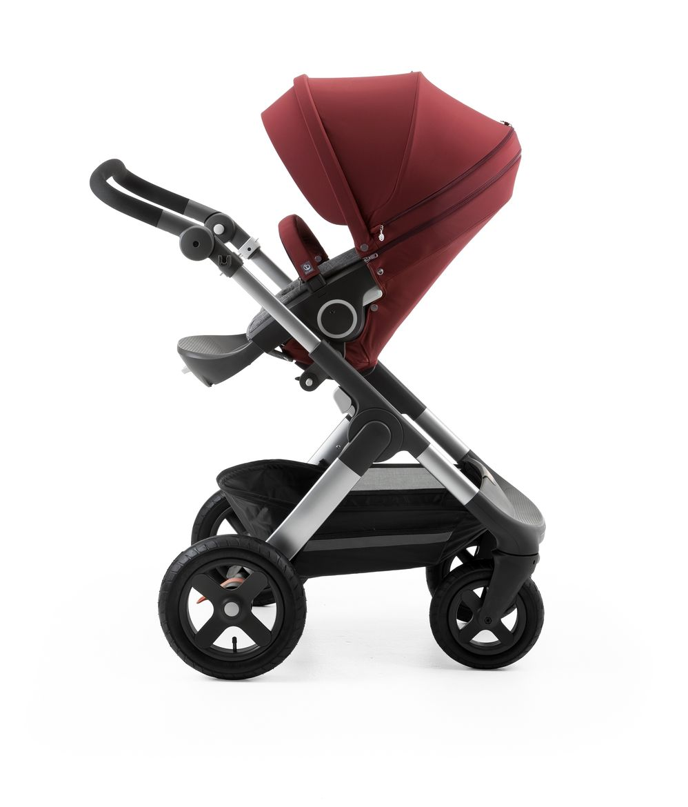 Stokke®  Stroller Seat Style Kit Burgundy with Trailz chassis