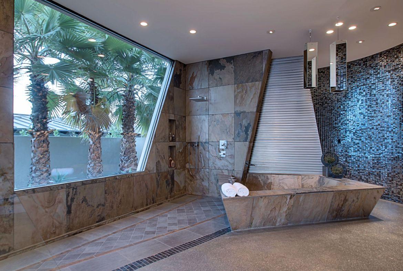 A modern bathroom designed by Brian Foster in the Mirada Estates of California