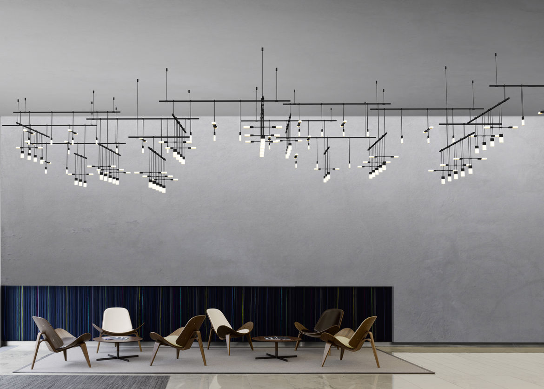 Sonneman's Suspenders 4-tier gallery matrix configuration