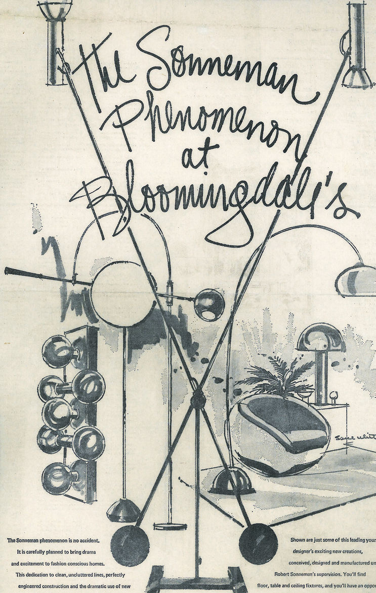 A Sonneman advertisement for Bloomingdale's from the early 1970s