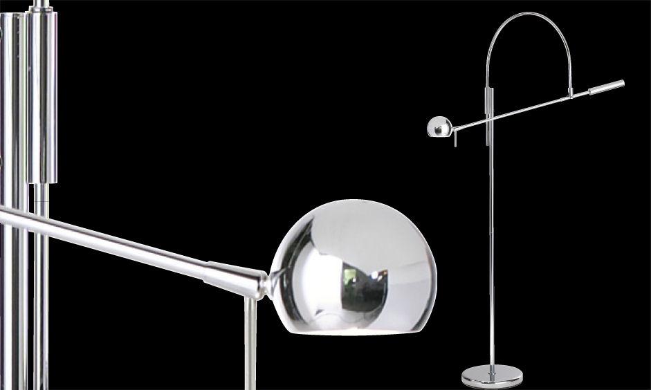 Sonneman's Orbiter floor lamp when it was first designed in 1967
